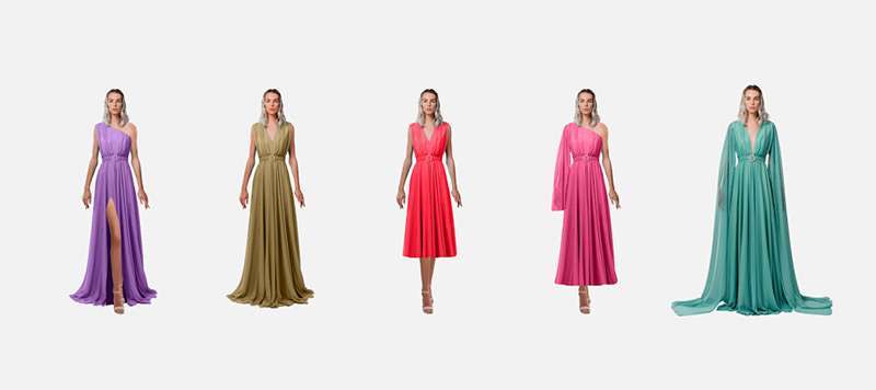 Customize your own dress, Choose your own neckline, sleeve type, length and size.